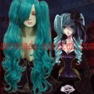 Vocaloid Hatsune Miku green curly cosplay wig