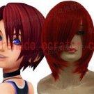Kingdom Hearts Kairi darkred short cosplay wig