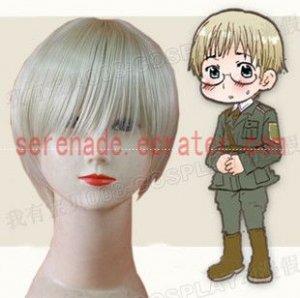 Hetalia Axis Powers Edward Von bock cosplay wig