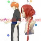 Gintama Kamui coral orange cosplay wig
