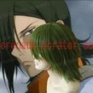 Gundam Allelujah Haptism darkgreen cosplay wig