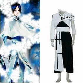 Bleach Ishida Uryuu 1st Mens Cosplay Costume