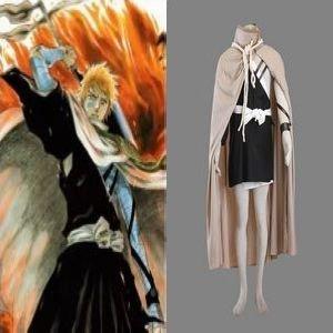Bleach Kurosaki Ichigo Execution Ground Cosplay Costume