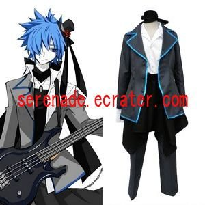 Vocaloid Kaito Melanism Version Cosplay Costume