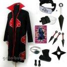 Naruto Cosplay Akatsuki cloak Deidara Costume DHL Shipping