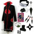 Naruto Cosplay Akatsuki cloak Hidan Costume DHL Shipping