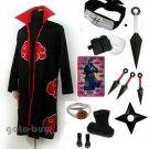 Naruto Cosplay Akatsuki cloak Hoshigaki Kisame Costume DHL Shipping