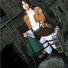 Attack on Titan Shingeki no Kyojin Mikasa Ackerman Full Set Cosplay Costume