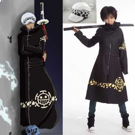 One Piece Trafalgar Law 2nd Cosplay Costume Cloak And Hat