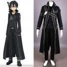 Sword Art Online Kirigaya Kazuto Kirito cloak Cosplay Costume