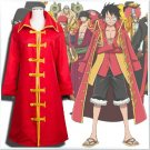 One Piece Monkey D Luffy Cosplay Costume Cloak and Hat
