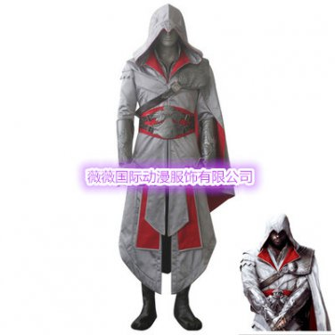 Assassin's Creed II Cosplay Ezio Auditore da Firenze White Costume
