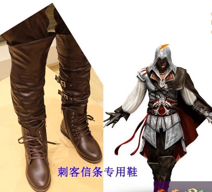 Assassin's Creed III Cosplay Ezio Auditore da Firenze Shoes