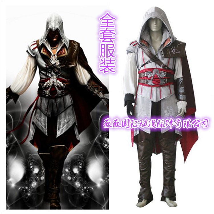 Assassin's Creed III Cosplay Ezio Auditore da Firenze Costume And Shoes