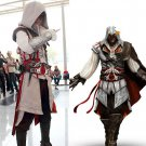 Assassin's Creed III Cosplay Ezio Auditore da Firenze Black and white Costume