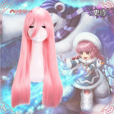 League of Legends LOL Annie the Dark Child Pink Costume Wig