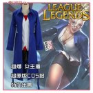 League of Legends LOL Janna The weather reporter Cosplay Costume