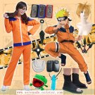Naruto Uzumaki Naruto First Cosplay Costume And A Set of Accessories
