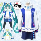 Vocaloid Snow Hatsune Miku Winter Clothing Cosplay Costume