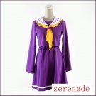 NO GAME NO LIFE Shiro Purple Cosplay Costume