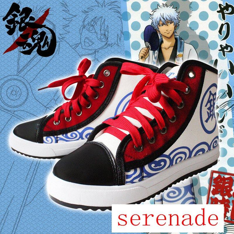 Gintama Sakata Gintoki Cosplay Casual Canvas Shoes