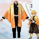 Demon Slayer Kimetsu no Yaiba Agatsuma Zenitsu Cosplay Costume