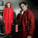 La casa de papel Money Heist dali red jumpsuits Cosplay Costume