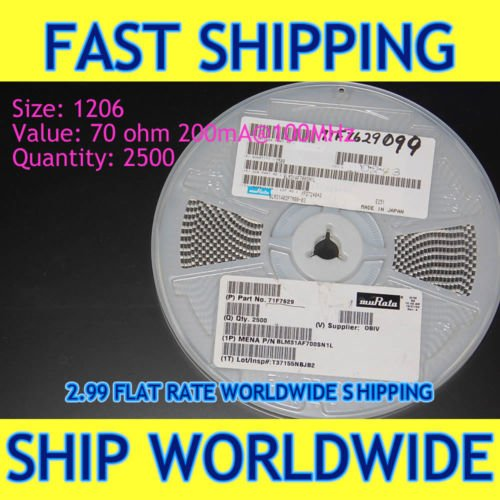 NEED A FEW, BUY A REEL - Filter EMI SMD1206 100MHz 70R