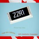 100 pcs - Size 2512, 1W, YAGEO 22.1 Ohm ±1%  RC2512FK-0722R1L (W3)