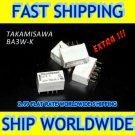4 PCS TAKAMISAWA BA3W-K RELAY 3V + BONUS LEDs *** Fast shipping***