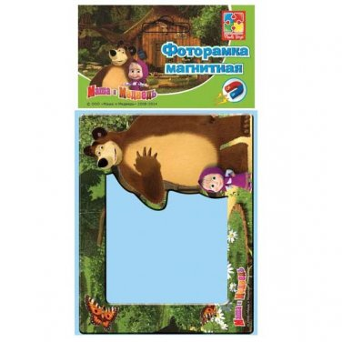 MASHA AND MEDVED THE BEAR �а�а и �едвед� RUSSIAN CATOON MAGNETIC PICTURE FRAME