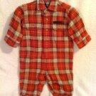 Ralph Lauren Plaid Flannel Longall Romper 3-6 month
