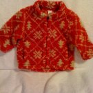 Baby Gap 3-6 month Red Fluff Coat