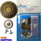 17mm LS & Co Jean Buttons 6 Set with Tool