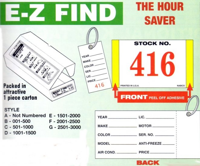 Style G -  Numbered 2501-3000