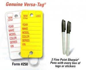 YELLOW Poly Tags #250/box