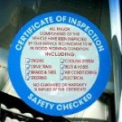 SAFETY INSPECTION Seal