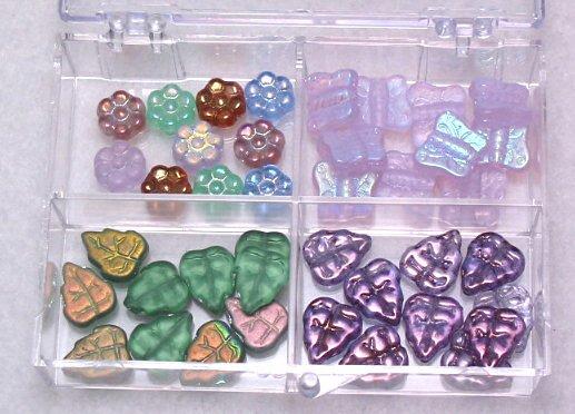 Garden Czech Glass Bead Kit with Box