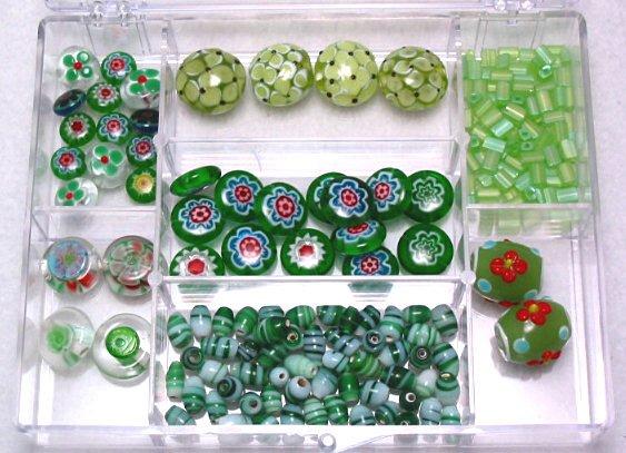 Lampwork Millefiori & Czech Glass Bead Kit with Box