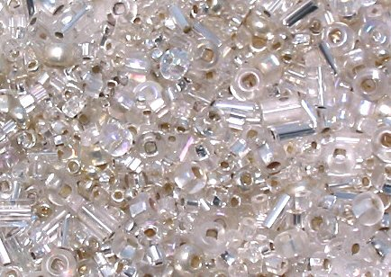 """Crystal Clear Glass Seed Bead Mix 6"""" Tube"""