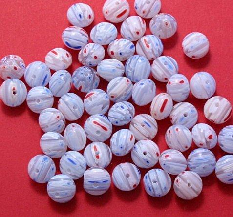 Millefiori Glass Rondelle 10 mm Beads 16 inch strand