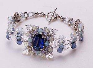 TOHO Elegant Jewelry Kit Glass stone and leaf