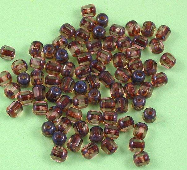 Czech Glass Antique Style Bead 6mm light Topaz 20