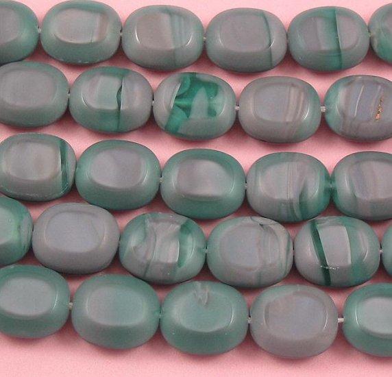 Mauvelous Oval Czech glass window beads