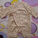 (Free shipping)Lovely unisex newborn romper/sleep suit(bear)
