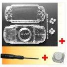 PSP 1000 Full Housing Shell Case Cover + Joystick CLEAR