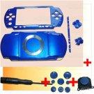 PSP 1000 Full Housing Shell Case Cover + Joystick BLUE