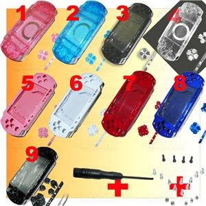 PSP 1000 Full Housing Parts Faceplate Shell + Screws