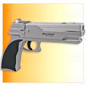 2 X Perfect Shot Light Gun Pistol for Wii Controller