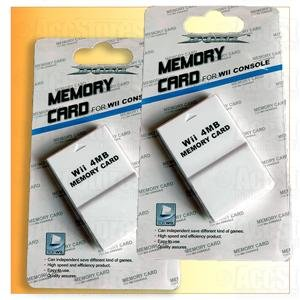 2 X 4MB 4M 4 MB Memory Card for Nintendo Gamecube & Wii